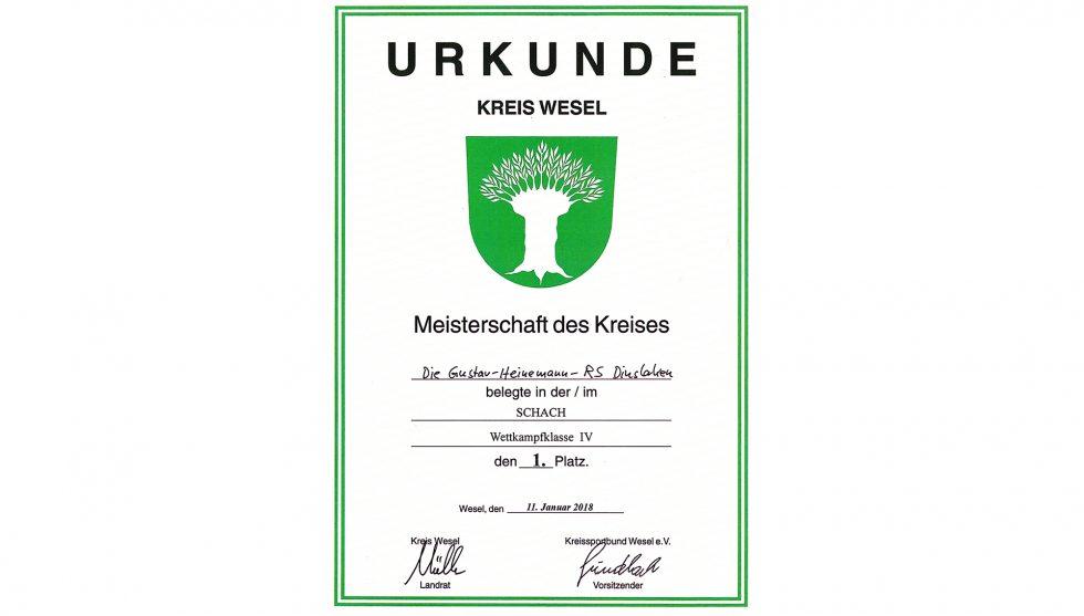 Kreismeister im Schulschach